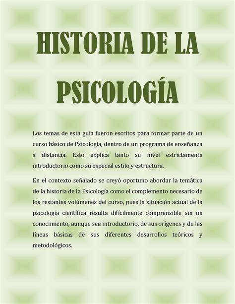 Calaméo   Historia de la Psicología