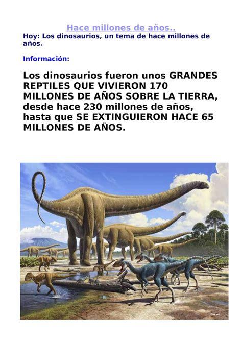 Calaméo   Información De Los Dinosaurios Parte 1