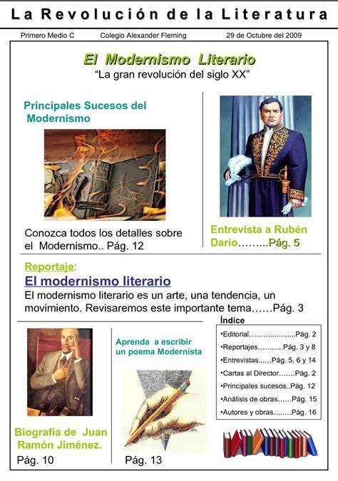 Calaméo   La Revolución de la Literatura   El Modernismo