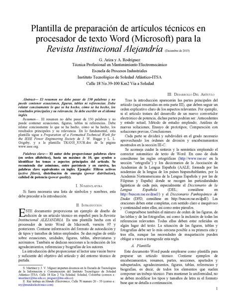 Calaméo   Plantilla Articulo Cientifico