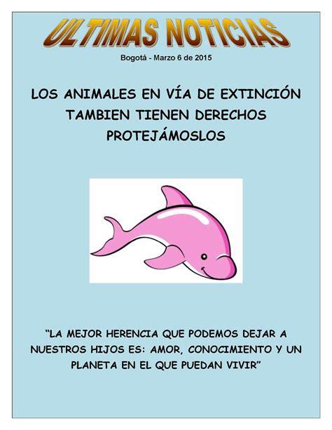 Calaméo   Proyecto Aula Cuidado Animales En Extinsion Sena ...