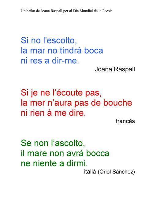 Calaméo   Un haiku de Joana Raspall per al Dia Mundial de ...