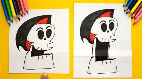CALAVERA QUE ABRE LA BOCA   How to Draw skull   Como ...