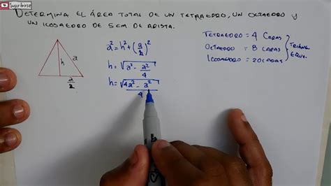 CALCULAR AREA DE TETRAEDRO, OCTAEDRO, ICOSAEDRO | AREAS Y ...