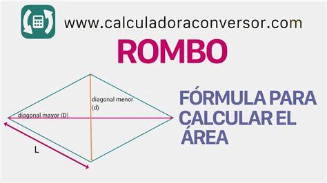 Calcular área del rombo: fórmula y ejemplos   YouTube