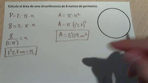 Calcular el área de una circunferencia a partir del ...