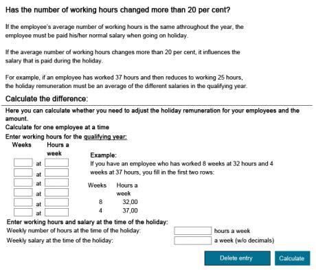 Calculate holiday pay   the difference   Virk | Indberet