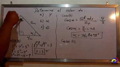 Calculo de los ángulos de un triangulo   SENO , COSENO ...