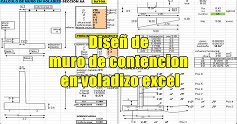 Cálculo de muro de contención en voladizo ~ INGENIERIA CIVIL