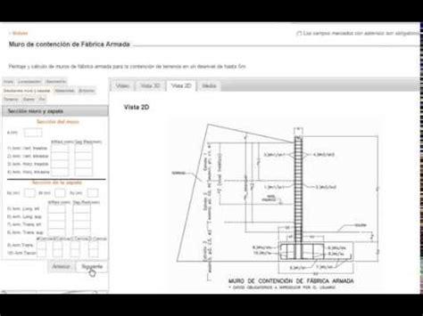 Cálculo de muros de contención de fábrica armada    e ...
