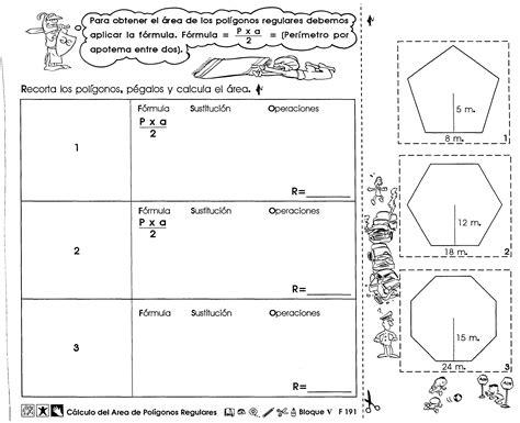 Cálculo del area de polígonos regulares 6to grado ...