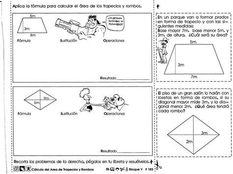 Cálculo del area de trapecios y rombos 6to grado | Área de ...