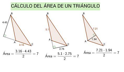 Cálculo del área de un triángulo – GeoGebra