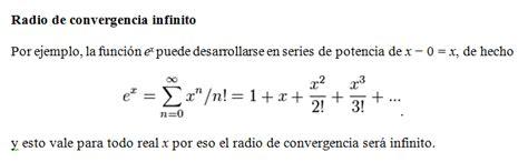 CALCULO INTEGRAL: 4.4 RADIO DE CONVERGENCIA