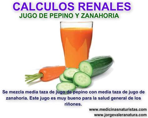 Calculos renales   Jugos   Jugo de zanahoria, Remedios y ...