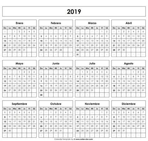 Calendario 2019 | Calendario en blanco, Calendario y ...