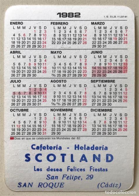 calendario año 1982   athletic de bilbao   mund   Comprar ...