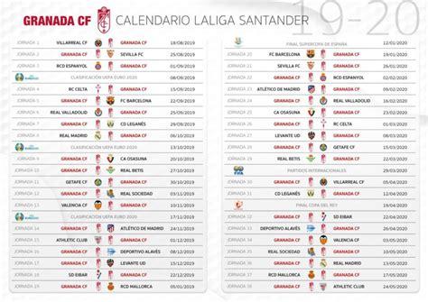 Calendario completo del Granada CF para la temporada 2019 2020