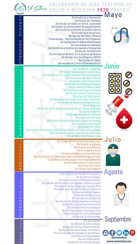 Calendario de Días Festivos e Importantes de Salud y ...