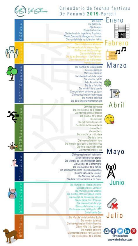 Calendario de fechas festivas de Panamá 2019 | Calendario ...