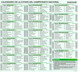 Calendario de la segunda etapa del campeonato ecuatoriano ...