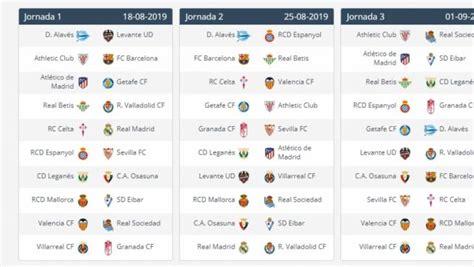 Calendario de LaLiga 2019 2020 en PDF: horarios de ...