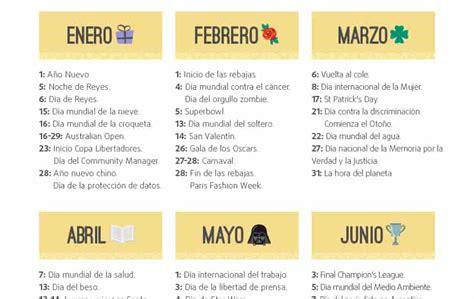 Calendario de marketing 2017 para Argentina