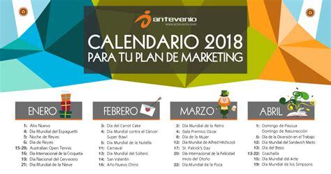Calendario de marketing 2018 para Argentina: Planifícate.