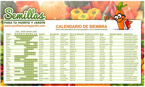 Calendario de Siembra | Huerto, Cultivar hierba, Huerto ...