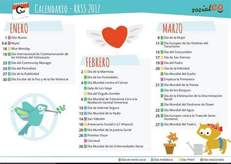 Calendario del Community Manager de ONG 2018   SocialCo ...