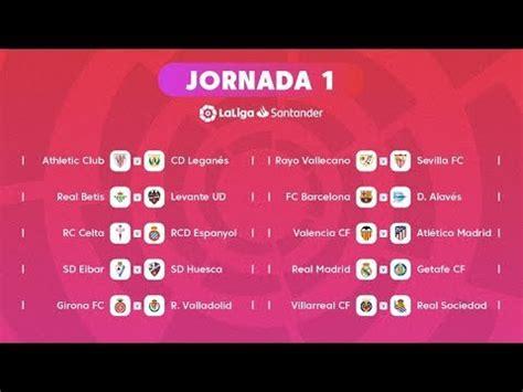 Calendario Primera División de Fútbol en España 2018 ...