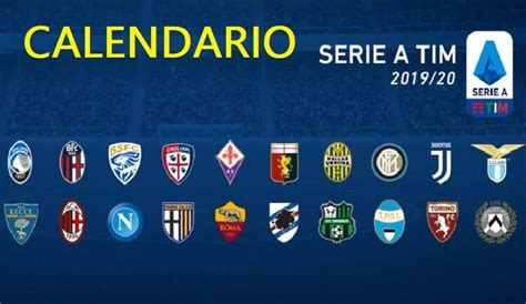 Calendario Serie A TIM 2019 2020 | Fixture Completo
