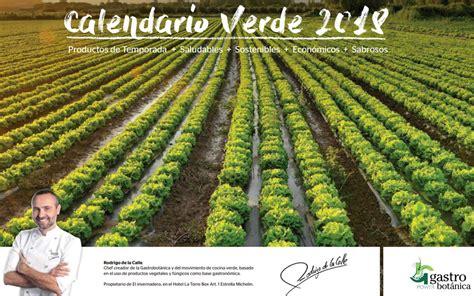 Calendario verde 2018 con recetas de Rodrigo de la Calle ...