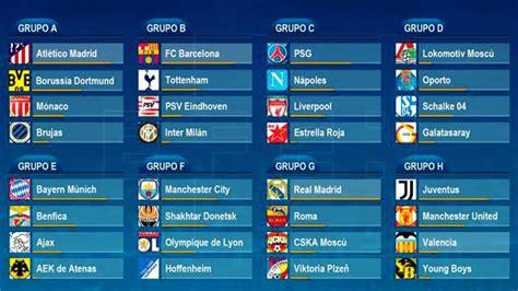 Calendario y horarios confirmados para la Champions League