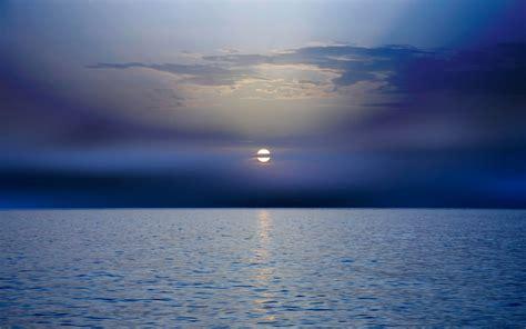Calmy Ocean Deep Sky Full Moon wallpapers   Calmy Ocean ...