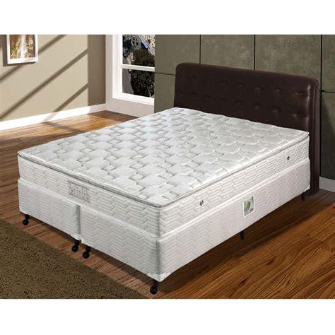 Cama Box King Size + Colchão Paropas Esplêndido com Pillow ...