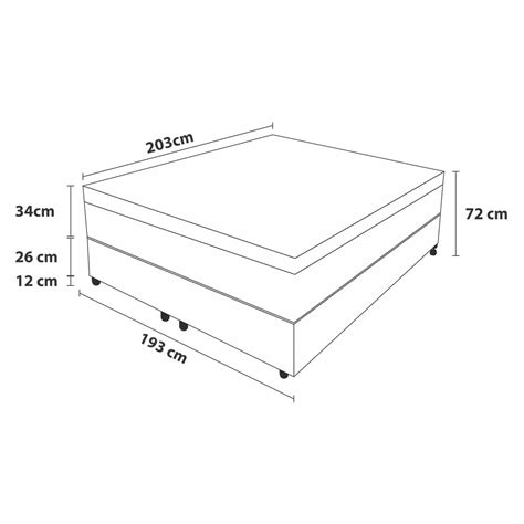 Cama Box King Size Probel + Colchão Palace Royal Branco ...