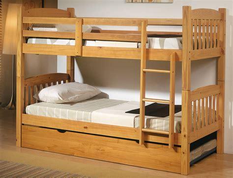 Cama litera dormitorio juvenil en madera color miel con ...