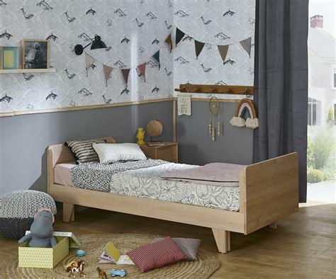 Cama nido con colchones, blanca de madera maciza