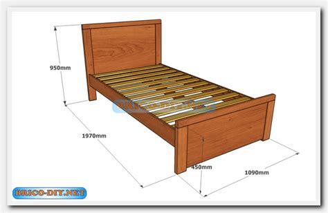 Camas de madera /Plano con medidas de una plaza y media ...