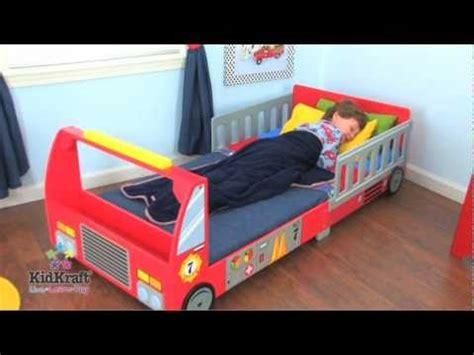 Camas infantiles en forma de camión de bomberos de ...
