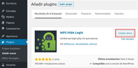 Cambia la dirección de login de WordPress