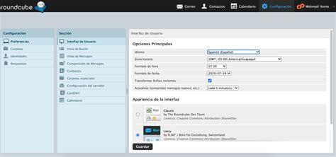 Cambiar de zona horaria webmail Cpanel   Creativos