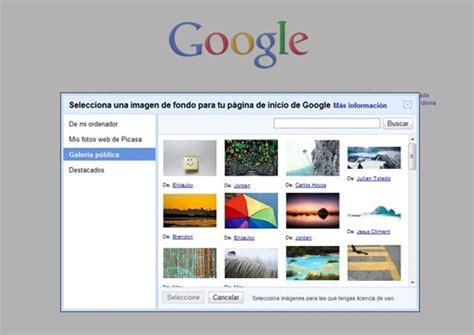 Cambiar el fondo de Google