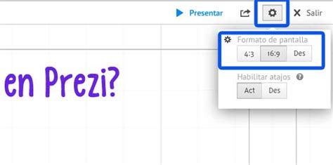Cambiar el formato de pantalla en Prezi | MiPrezi