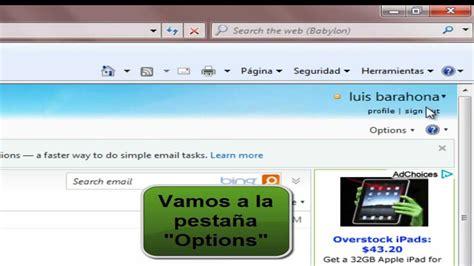 cambiar el idioma  ingles español  en hotmail   YouTube