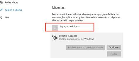 Cambiar el idioma predeterminado de Windows 10