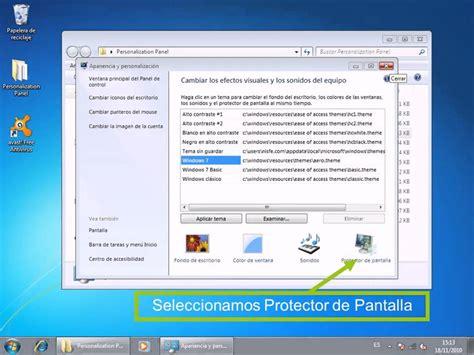 Cambiar el protector de pantalla windows 7 starter home ...