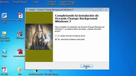 Cambiar fondo de escritorio en Windows 7 Starter ...
