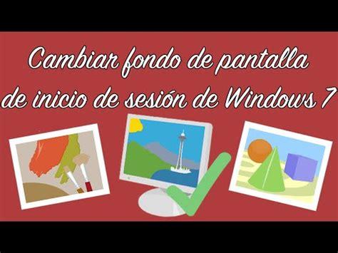 Cambiar fondo de pantalla de inicio de sesión de Windows 7 ...